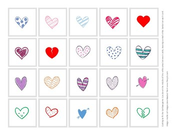 Valentine's Day Hearts Cariboo Cards - FREEBIE!
