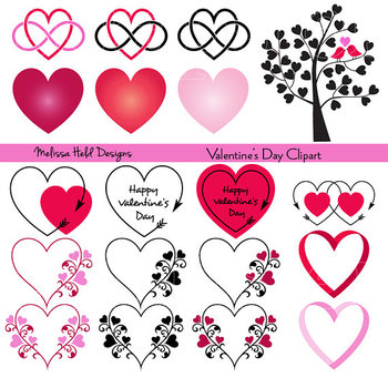 Valentine's Day Hearts Clipart