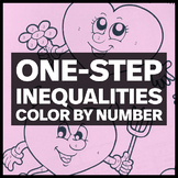 Valentine's Day Hearts Coloring Activity - One Step Inequalities (Two Options)