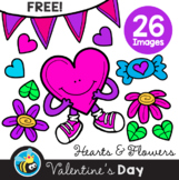 Valentine's Day - Hearts & Flowers (Clipart)