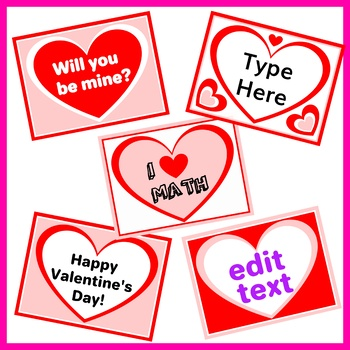 Valentine's Day Hearts Labels – 18 Labels with Editable Text!
