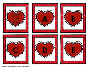 Valentine's Day Hearts Letter Recognition 'Bang' Game