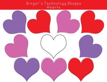 Valentine's Day Hearts!  Love!