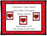 Valentine's Day Hearts Early Math Concepts (numbers 1 to 2