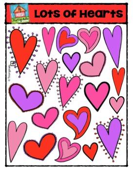 Valentine's Day Hearts {P4 Clips Trioriginals Digital Clip Art}