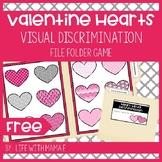 Valentine's Day Hearts Visual Discrimination File Folder Game
