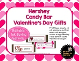 Valentine's Day Hershey Candy Bar Wrappers