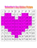 Valentine's Day Hidden Picture (Hundreds Board Activity)