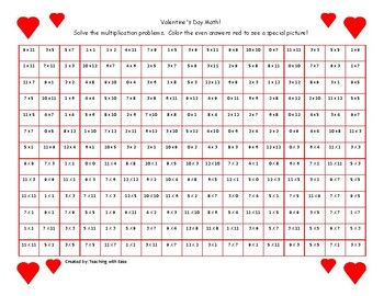 February Hidden Picture Multiplication