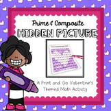 Prime and Composite Numbers: Valentine's Coloring Activity