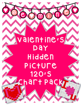 Valentine's Day Hidden Pictures 120's Chart Pack