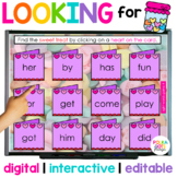 Valentine's Day Hide and Seek Game for Letters & Sight Wor
