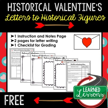Valentine's Day Historical Letters Social Studies, Valentine's Day Activity Free