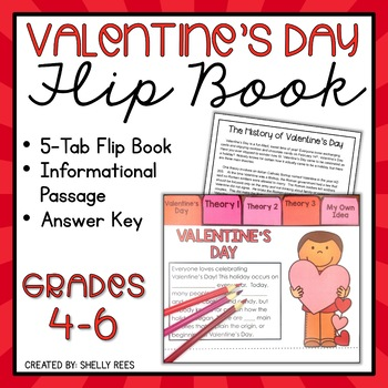 Valentine's Day Reading Passage and Flip Book