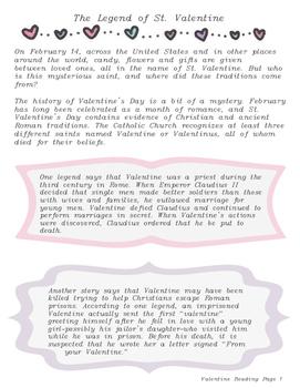 Valentine's Day History Game Grades 4-8