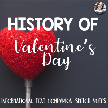 Valentine's Day History Sketch Notes/Coloring Page -- Informational Text