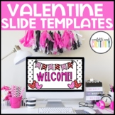 Valentine's Day Holiday Google Slides Template   Distance Learning