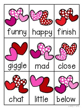 Valentine's Day Kiddos and Hearts Homophones Match