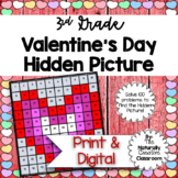 Valentine's Day Hundred Chart Hidden Picture