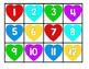Valentine's Day Hundreds Chart Number Cards