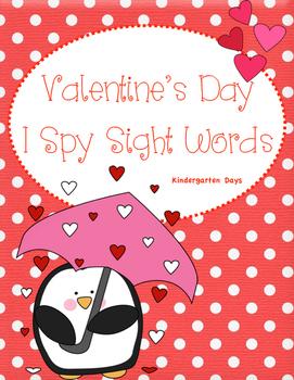 Valentine's Day I Spy Sight Words
