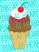Valentine's Day Ice Cream Clip Art
