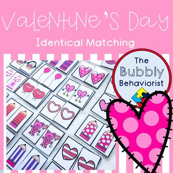 Valentine's Day Identical Matching Cards