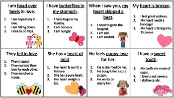 Valentine's Day-Idioms, Homonyms, Synonyms, Prepositions, Basic Concepts