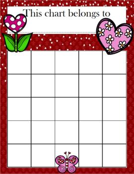 Valentine's Day Incentive Chart