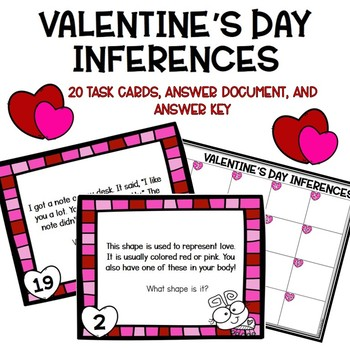 Valentine's Day Inference Activity (Task Cards/SCOOT)