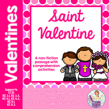 St. Valentine's Day non-fiction passage with comprehension activities