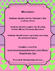 Valentine's Day Informational Text and Writing Activity with Blooms Taxonomy