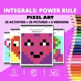 Valentine's Day: Integrals Power Rule Pixel Art Mystery Pictures