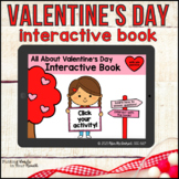 Valentine's Day Interactive Book   Boom Cards™ with WH-questions