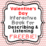 Valentine's Day Interactive Vocabulary Book FREEBIE