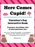 Valentine's Day Interactive Book for Pronouns, Describing,