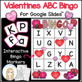 Valentine's Day Interactive Digital Letter Bingo Game for