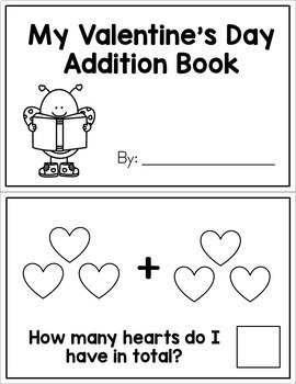 Valentine's Day Interactive Math Book - Addition and Subtraction