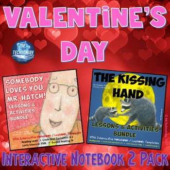 Valentine's Day Interactive Notebook Reading 2 Pack