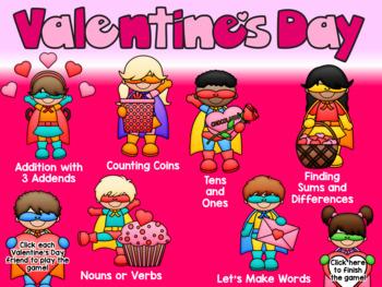 Valentine's Day Interactive PowerPoint Game