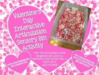 Valentine's Day Interactive Sensory Bin for Articulation!