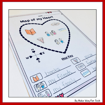 Valentine's Day Interactive Writing Activity for Mom and Dad and Map of my Heart