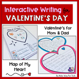 Valentine's Day Interactive Writing Activity for Mom and D