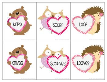 Valentine's Day Irregular Plurals {Freebie}