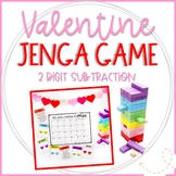 Valentine's Day Jenga Math Game Cards: 2 Digit Subtraction