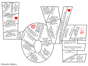 Valentine's Day Joke Puzzles Fun Activity