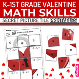 Valentine's Day K-1st Grade Math Skills Secret Picture Til