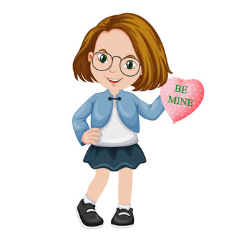 Valentine's Day Kids Clip Art