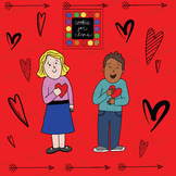 Valentine's Day Kids and Hearts
