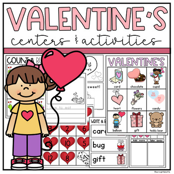 Valentine's Day Kindergarten Activities & Centers